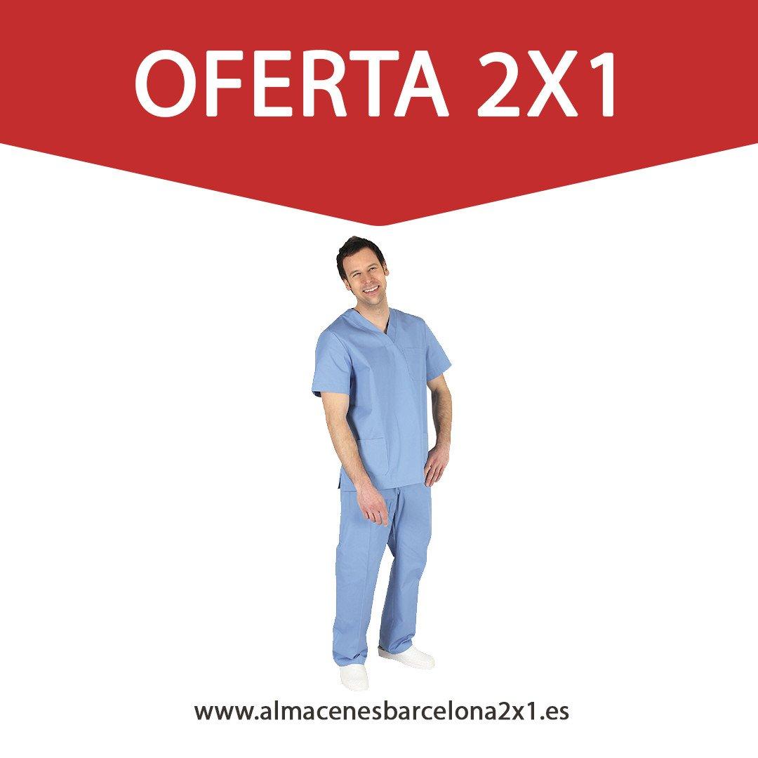 Almacenes Barcelona 2x1 - traje sanitario celeste oferta 771bad8818d